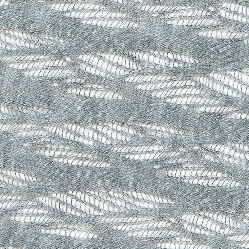 Hachi Heather Grey Stretch Lace Knit Fabric