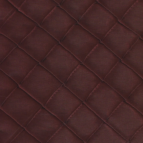 Burgandy 1 Stitched Diamond Tafetta Woven Fabric ""