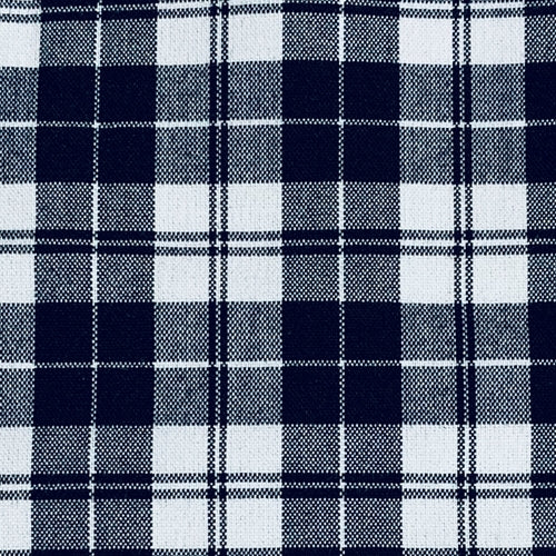 Black/White Classic Suiting Plaid Woven Fabric