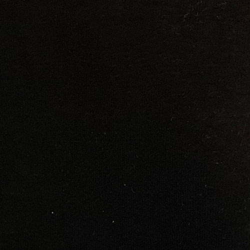 Black 14oz. Cotton/Lycra Jersey Knit Fabric