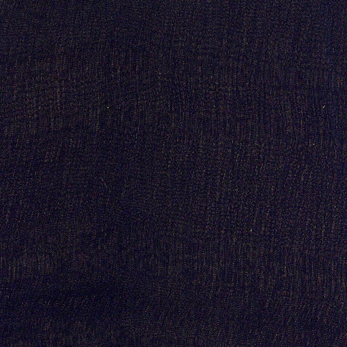 Black Crinkle #4 Sheer Silk Woven Fabric