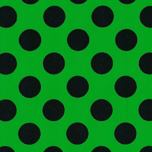 Black Dot Jersey Polyester Lycra Print Knit Fabric 4 Yard Lot