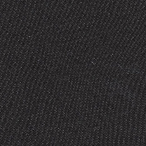 Black Fine Polyester Rib Knit Fabric