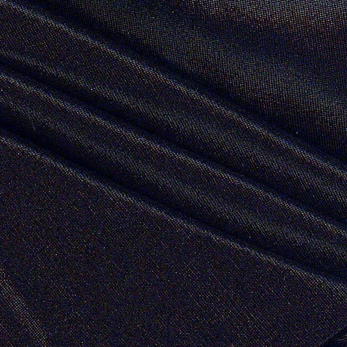 Black Stretch Foil Slinky Knit Fabric