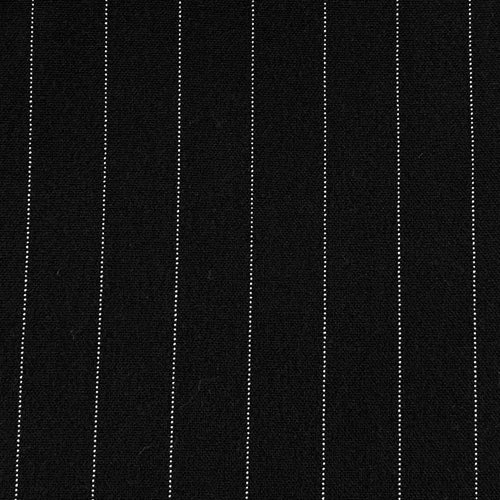 Black #S68 Stretch Spandex Suiting Stripe Woven Fabric - SKU 5608 BLACK