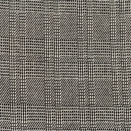 Black Suiting Plaid Woven Fabric