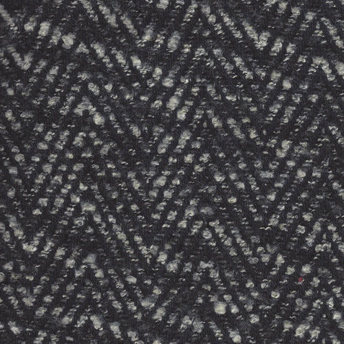Black/White Bouclet Herringbone Wool Coating Woven Fabric