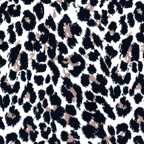 Black White Skin Polyester Lycra Print Knit Fabric