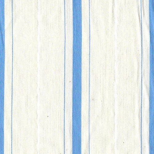Blue Pucker Stripe Stretch Woven Fabric