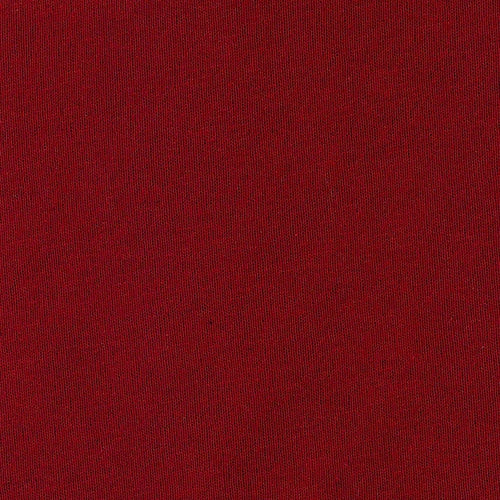 Burgundy Polyester/Cotton Jersey Knit Fabric