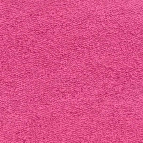 Coral Cotton Lycra French Terry Knit Fabric