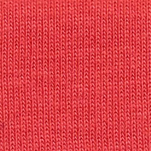 Dark Orange Rib Open Width Knit Fabric