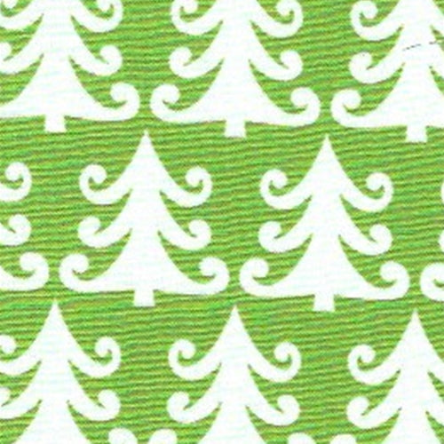 Flag Green X-Mas Tree Holiday Cotton Print Woven Fabric
