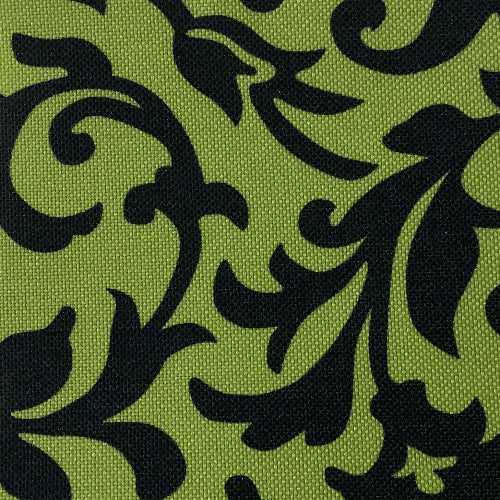 Lime Scroll ProTuff Print Waterproof 20 Ounce Canvas Woven Fabric