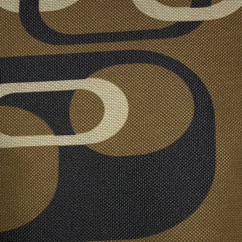 Khaki/Moca Retro ProTuff Print Waterproof 20 Ounce Canvas Woven Fabric