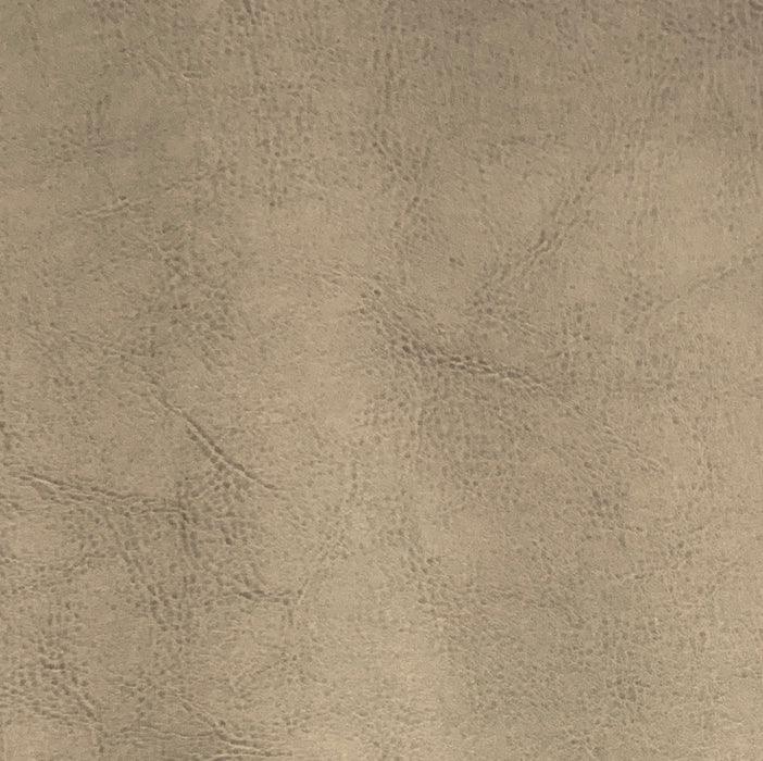 Sand Cowdry Linen Faux Leather Vinyl Fabric #S212