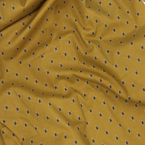 "Yellow #U63/164  Boundless by Crafty Basket Check Print 100% Cotton Woven Fabric 45""- SKU 5840 3 Yard Package"
