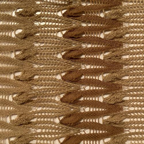 Beige Heavy Crochet Lace Knit Fabric