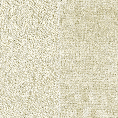 Ivory Towel Terry Velour Brushed Woven Fabric