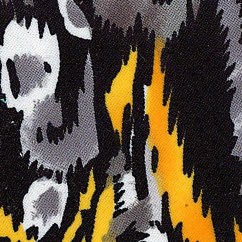 Kilim Yellow/Grey Stretch Spandex Twill Woven Fabric (125 Yards Roll) - SKU MYL