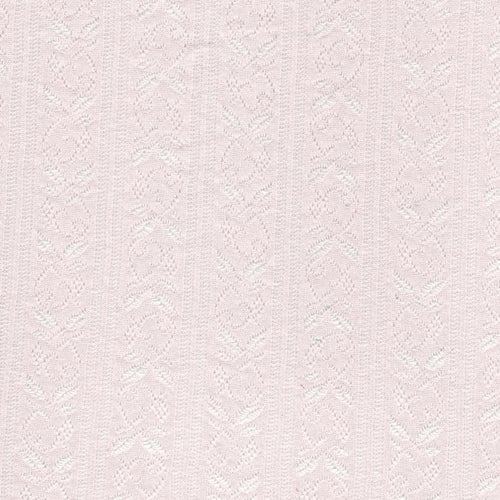 Lace Pink Floral Jersey Knit Fabric