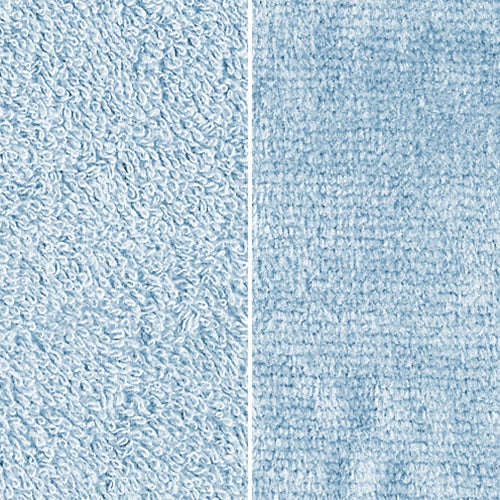 Light Blue Towel Terry Velour Brushed Woven Fabric