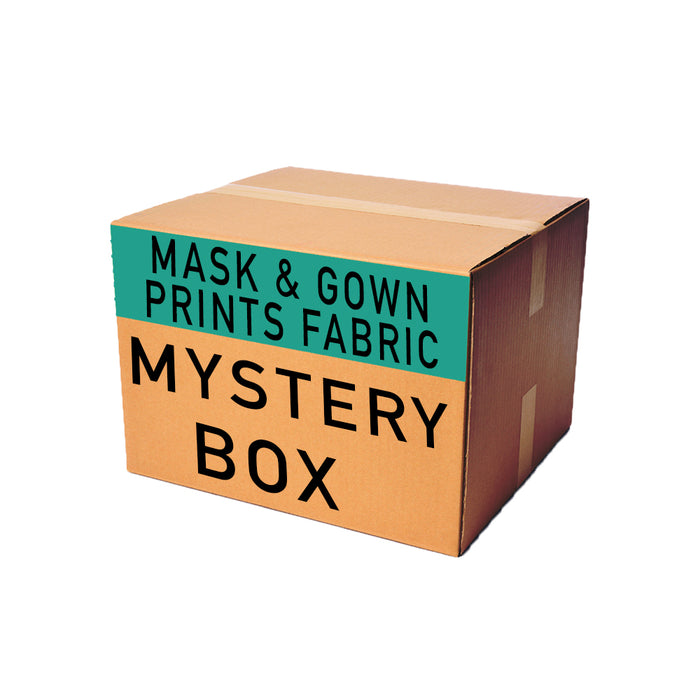 Mask & Gown Print Woven Mystery Fabric Box