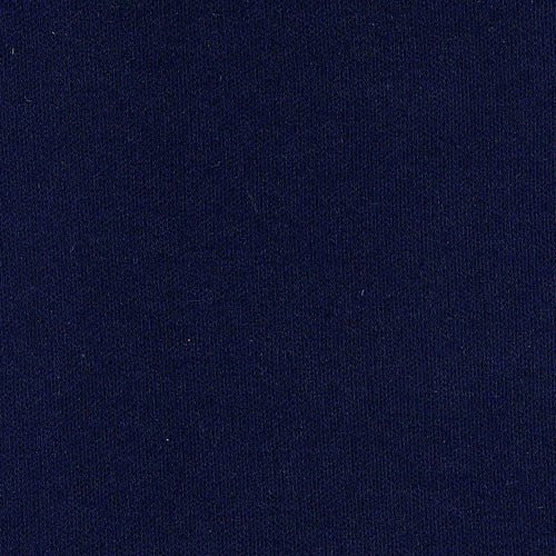 Navy Interlock Cotton Knit Fabric