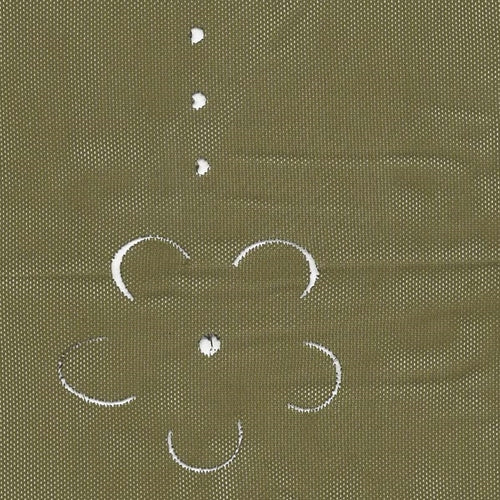 Olive Petals Cutout Sheer Jersey Knit Fabric 20 Yard Lots