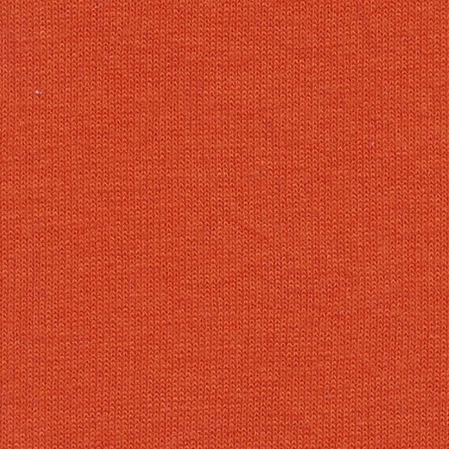 Orange Cotton Tubular Jersey Knit Fabric
