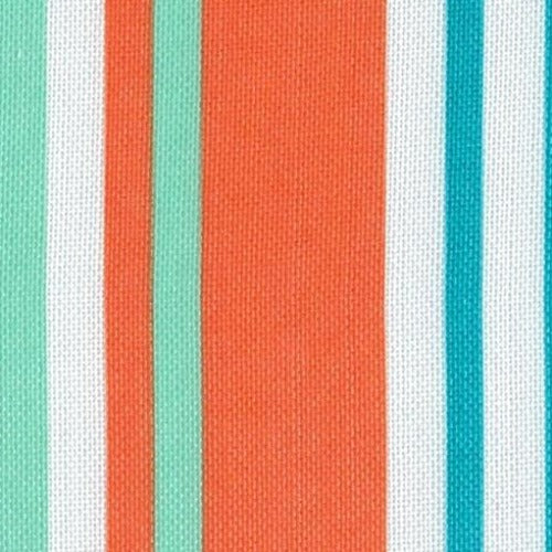 Orange ProTuff Stripe Outdoor Canvas Woven Fabric - SKU 1532S/2