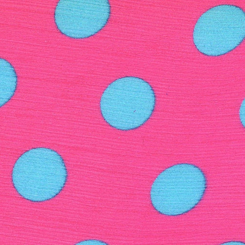 Pink #S32 Dot Sheer Print Woven Fabric - SKU 3276