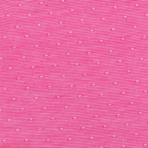 Pink Jersey Pin dot Jacquard Knit Fabric