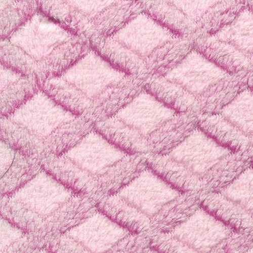 Pink Minky Lattice Polar Fleece Knit Fabric