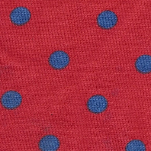 Red Dots Cotton Jersey Print Knit Fabric