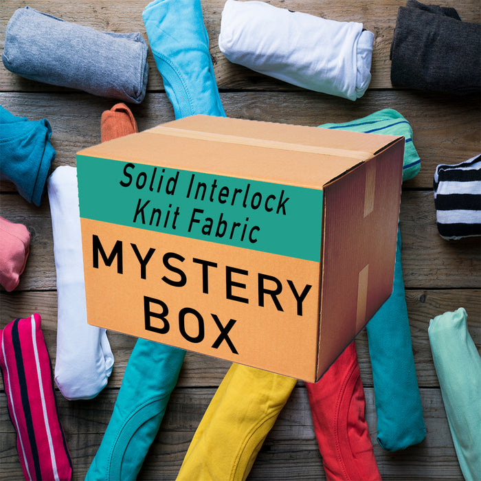 Solid Interlock Knit Mystery Fabric Box