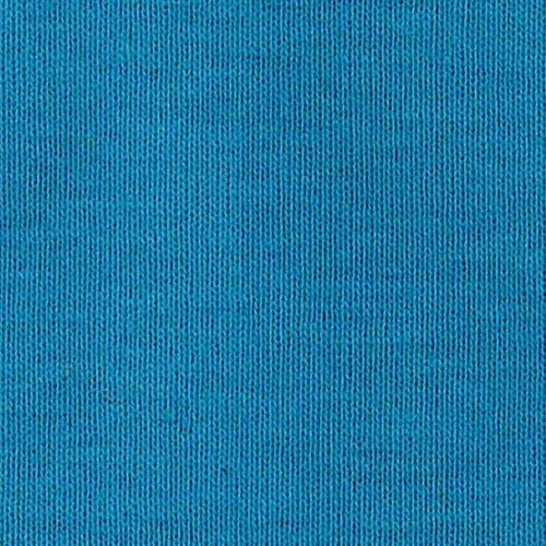 Turquoise Organic Cotton Tubular Rib Knit Fabric
