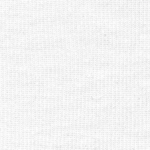 White Fine Polyester Rib Knit Fabric