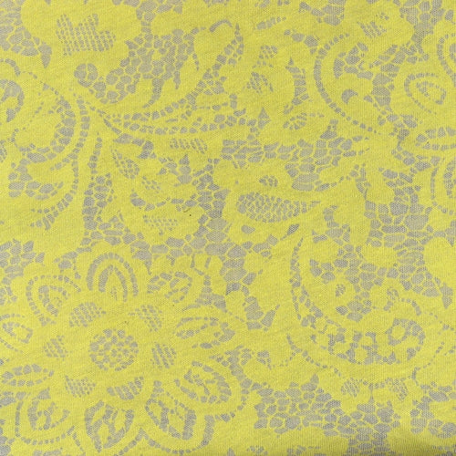 Yellow Victoria Jersey Jacquard Knit Fabric