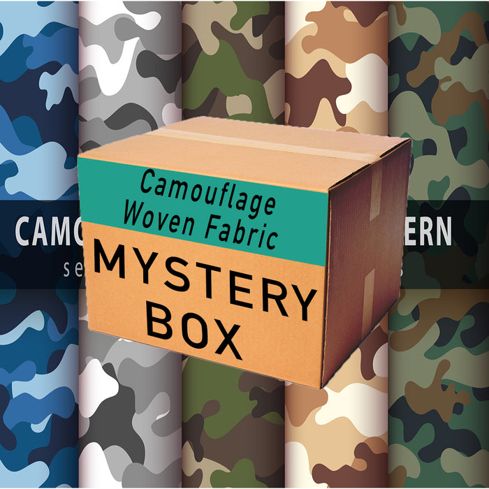Camouflage Woven Print Mystery Fabric Box