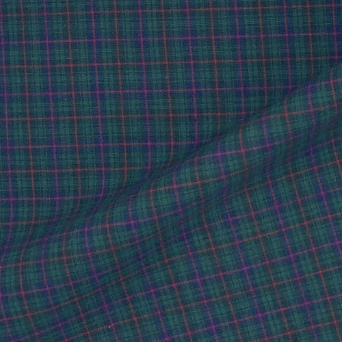 Hunter #U64 Pre Shrunk Plaid Shirting Woven Fabric - SKU 0541