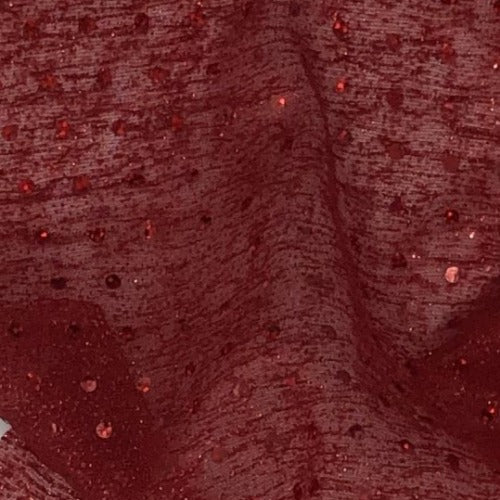 Red #S Pointer Sequin Lurex Mesh Knit Fabric - SKU 6025E