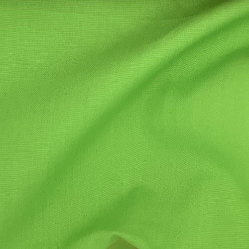 Lime #UB18 Cotton/Polyester Broadcloth Shirting Woven Fabric - SKU 5801A