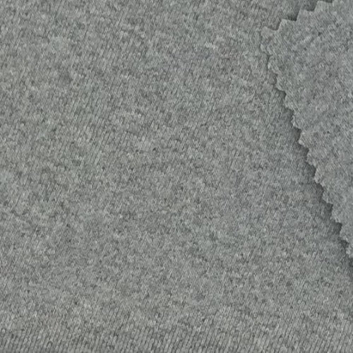 "Heather Grey #S/LL ""Made In America"" Heavy Weight/Cuffing Rib Knit Fabric - SKU 6033C"