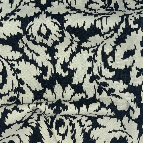 Black & Ivory Home Decorative Upholstery Woven Fabric - SKU 4902C