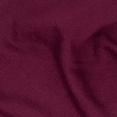 Burgundy U66/67 Mock-Bamboo 10 Ounce Sweatshirt Fleece Knit Fabric - SKU 5213