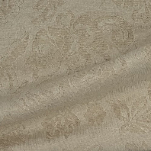 Khaki #S211French Paisley Jacquard Double Knit Fabric - SKU 5955