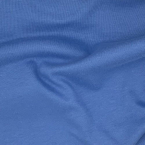 Blue 100% Cotton Fire Retardant Interlock Knit Fabric - SKU 5240 Blue
