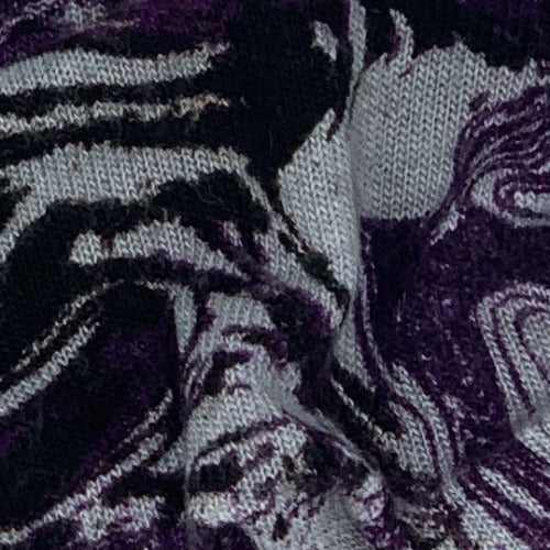 Purple #S110 Lava Sweater Knit Print Knit Fabric - SKU 4193