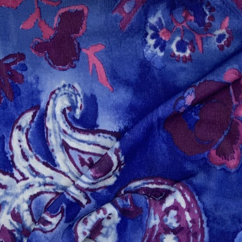 Purple Artisan Purple Polyester/Spandex jersey Print Knit Fabric - SKU 3155